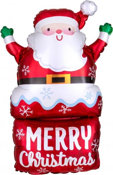 "Anagram Folienballon Supershape Santa in Chimney 76cm/30"""