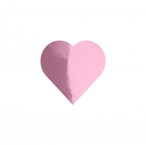 Goodtimes Folienkonfetti 1,7cm Herz 100g Rosa