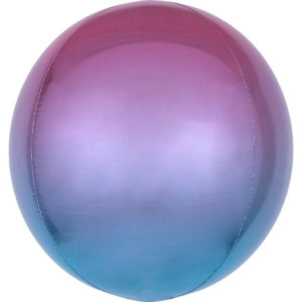Anagram Folienballon Orbz Ombré Purple & Blue 40cm/16""