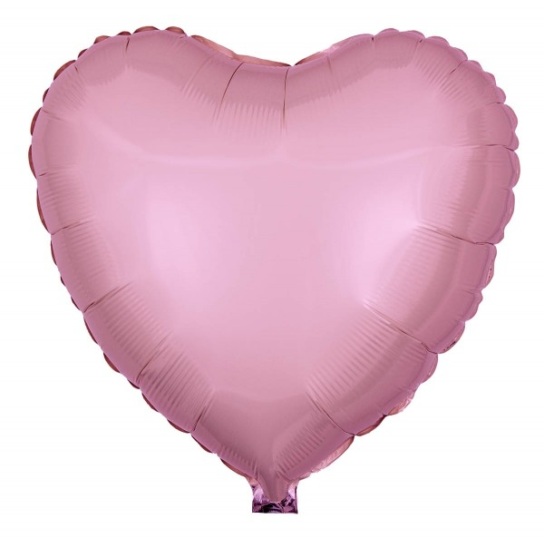 Folienballon Herz, Pearl Rosa, 45cm Ø