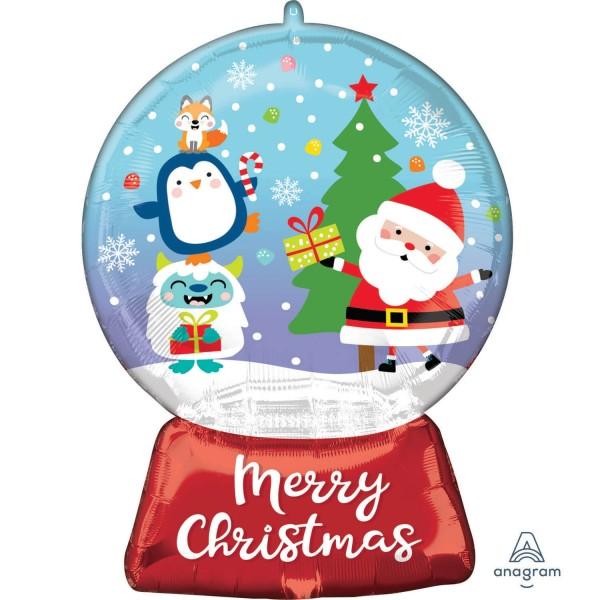 "Anagram Folienballon Christmas Snow Glob 50x68cm/20x27"""