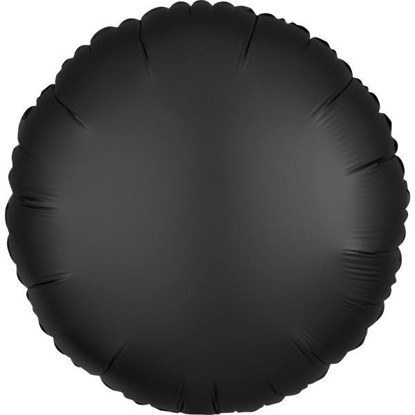 "Anagram Folienballon Rund Satin Luxe Onyx 45cm/18"""