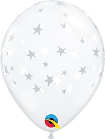 """Qualatex Latexballon Contempo Stars White 13cm/5"""" 100 Stück"""