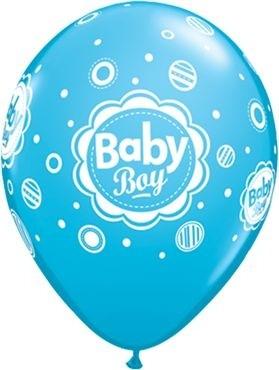 "Qualatex Latexballon Baby Boy Dots Blau 28cm/11"" 6 Stück"