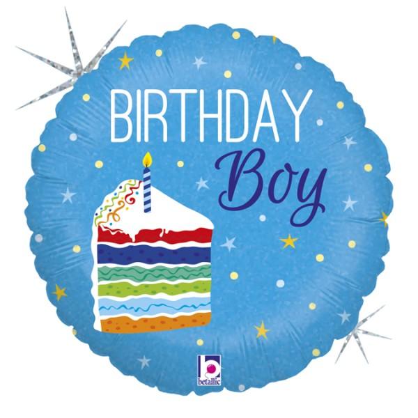 "Betallic Folienballon Birthday Boy Holo 46cm/18"""