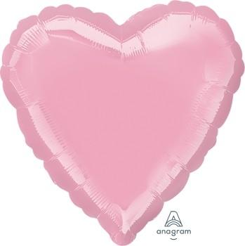Anagram Folienballon Herz 45cm Durchmesser Iridescent Pearl Rosa (Rose)