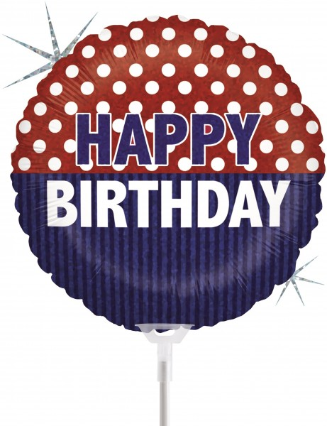 "Betallic Folienballon Nautical Birthday Holographic 23cm/9"" luftgefüllt inkl. Stab"