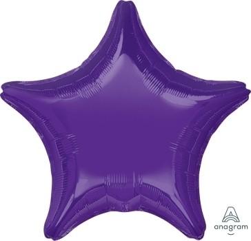 "Anagram Folienballon Stern Quartz Lila (Purple) 50cm/20"""