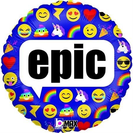 "Betallic Folienballon 45cm/18"" Emoji Epic"
