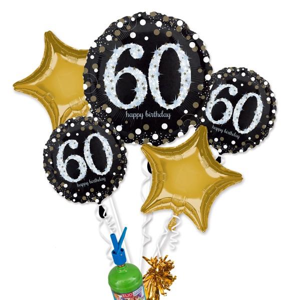 "Folienballon Helium Set ""60. Geburtstag"""