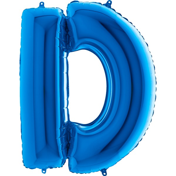 """Grabo Folienballon Buchstabe D Blue 100cm/40"""""""