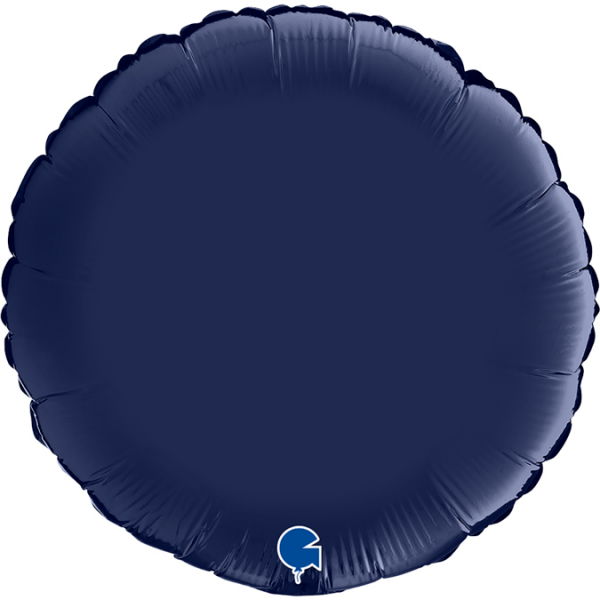 "Grabo Folienballon Round Satin Blue Navy 45cm/18"""