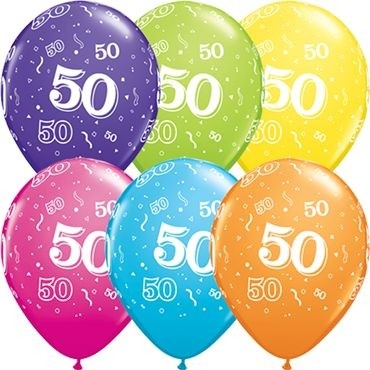 "Qualatex Latexballon 50-A-Round Tropical Assortment 28cm/11"" 25 Stück"