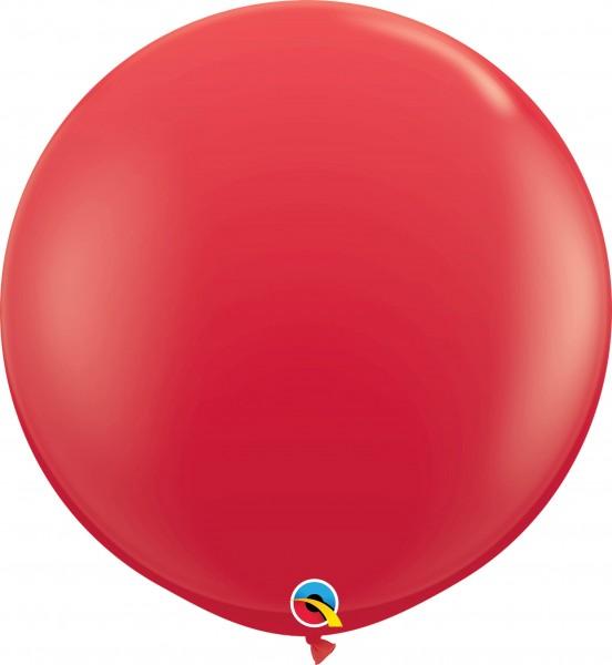 Qualatex Latexballon Standard Red 90cm/3' 2 Stück