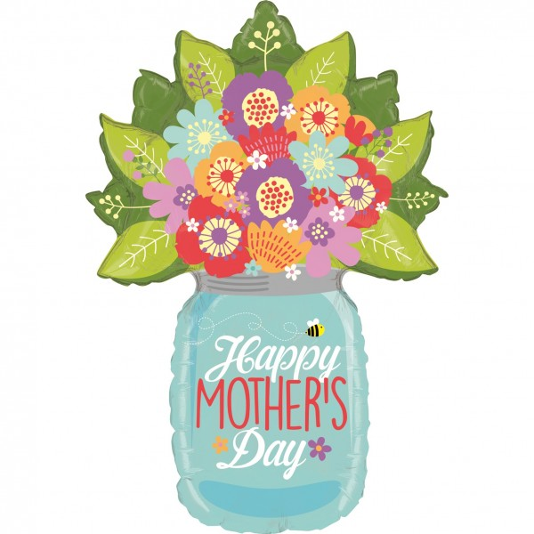 Betallic Folienballon Mother Day Wildflower Jar 100cm/40""