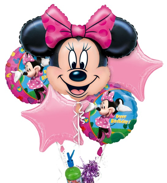 "Folienballon Helium Set ""Minnie Maus"""