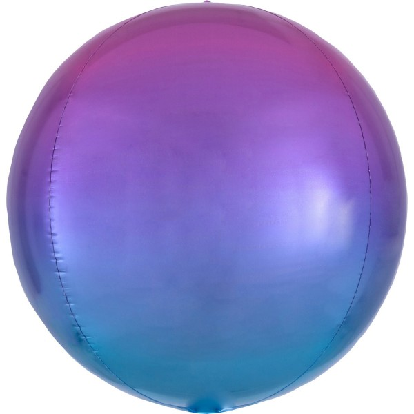 Anagram Folienballon Orbz Ombré Red & Blue 40cm/16""