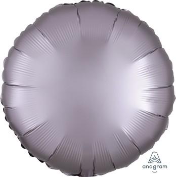 Anagram Folienballon Rund 45cm Durchmesser Satin Luxe Hellgrau (Greige)