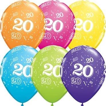 "Qualatex Latexballon 20-A-Round Tropical Assortment 28cm/11"" 25 Stück"