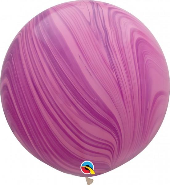 "Qualatex Latexballon Pink Violet Rainbow SuperAgate 75cm/30"" 2 Stück"
