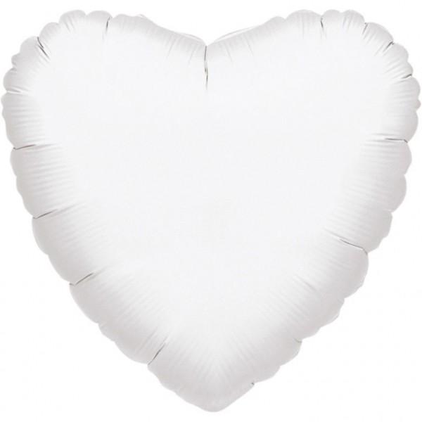 """Anagram Folienballon Herz Metallic White 45cm/18"""""""