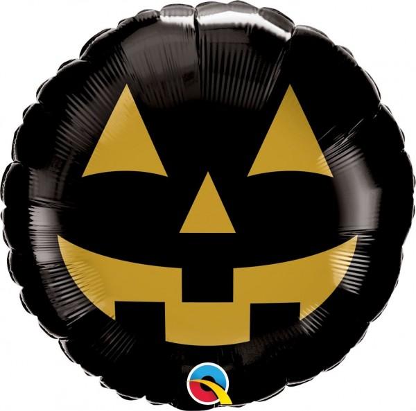 "Qualatex Folienballon ""Jack Face Black & Gold"" 45cm/18"""