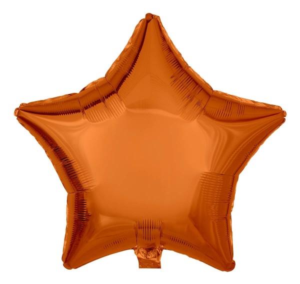 Folienballon Stern, Metallic Orange, 50cm Ø
