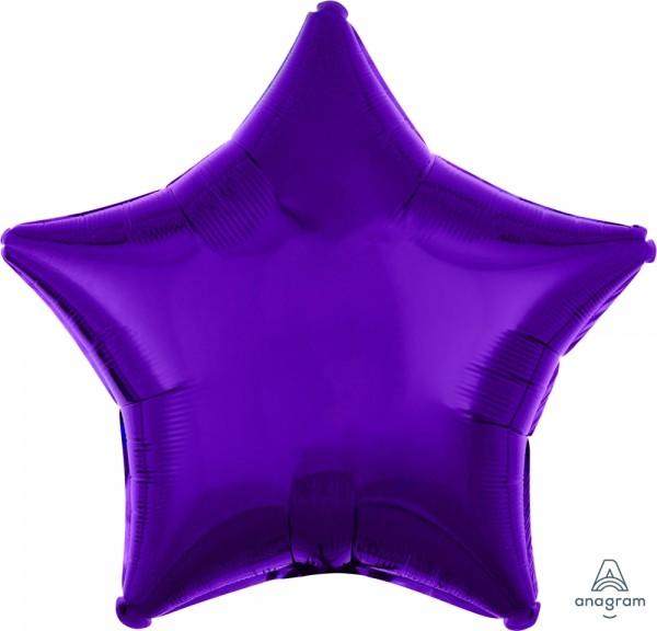 "Anagram Folienballon Stern Metallic Purple 50cm/20"""