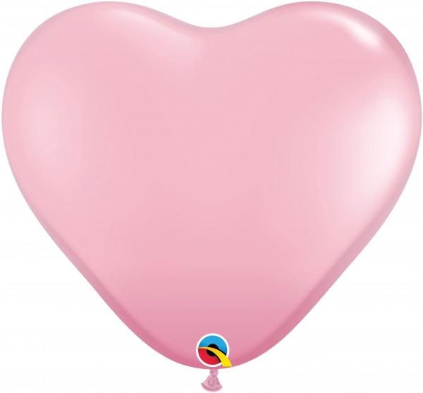 """Qualatex Latexballon Standard Pink Heart 38cm/15"""" 50 Stück"""