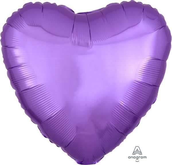"Anagram Folienballon Herz Pearl Lavendel (Lavendar) 45cm/18"""