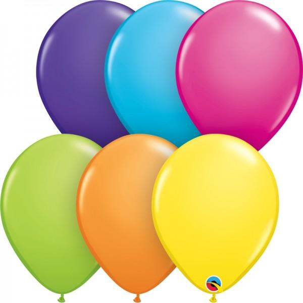 """Qualatex Latexballon Tropical Assortment 28cm/11"""" 100 Stück"""