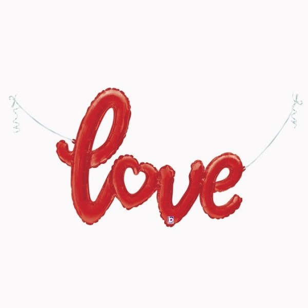 Betallic Folienballon Red-Love-Script 119cm/47""