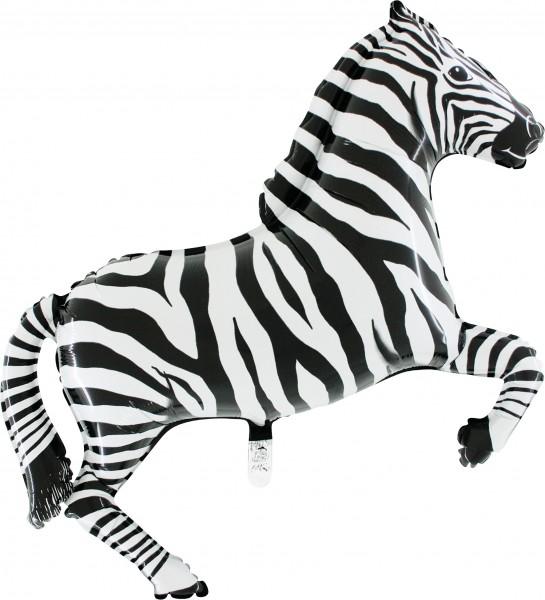 "Grabo Folienballon Zebra Black 99cm/39"""