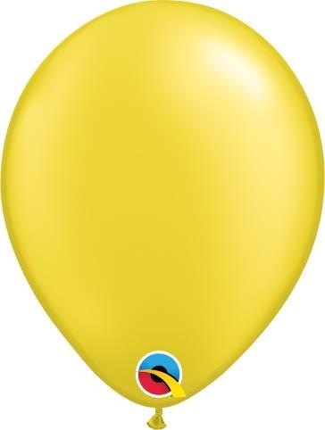 "Qualatex Latexballon Radiant Pearl Citrine Yellow 28cm/11"" 100 Stück"