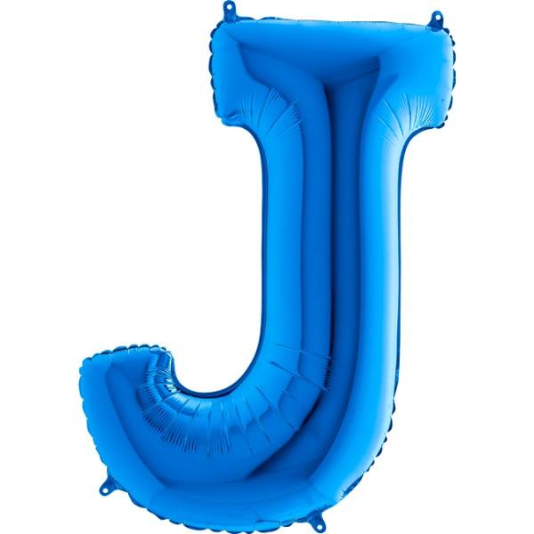 "Grabo Folienballon Buchstabe J Blue 100cm/40"""