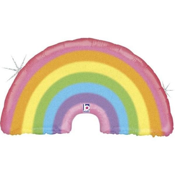 """Betallic Folienballon Glitter Pastel Rainbow 90cm/36"""""""