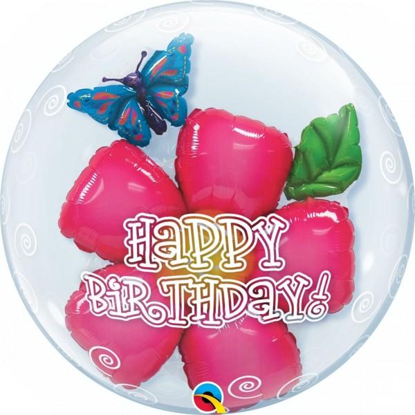 """Qualatex Bubbles Double Bubble Birthday Flower 60cm/24"""""""
