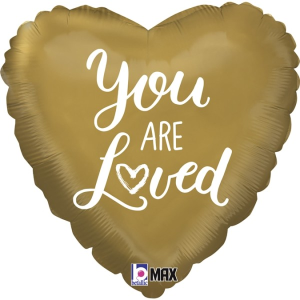 "Betallic Folienballon Heart You are Loved 46cm/18"""