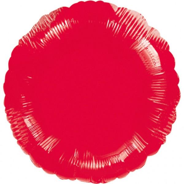 "Anagram Folienballon Rund Metallic Red 45cm/18"""