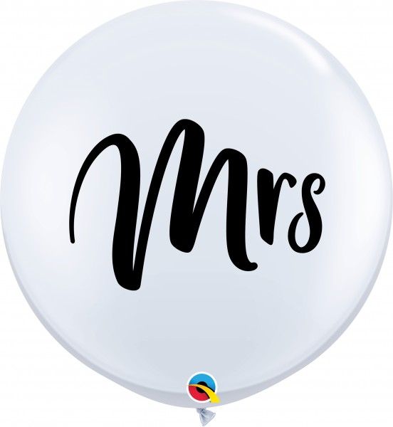 Qualatex Latexballon Mrs. White 90cm/3' 2 Stück