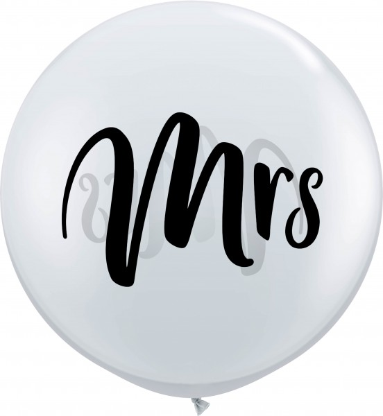 Qualatex Latexballon Black Mrs. Jewel Diamond Clear 90cm/3' 2 Stück