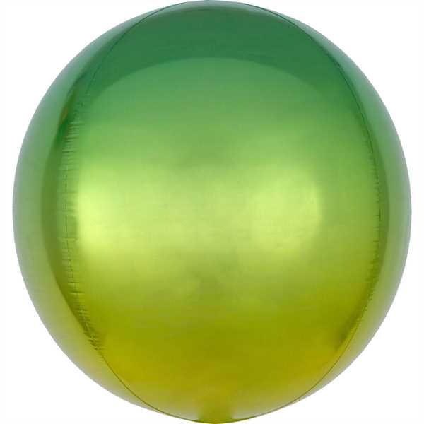 "Anagram Folienballon Orbz Ombré Gelb & Grün (Yellow & Green) 40cm/16"""