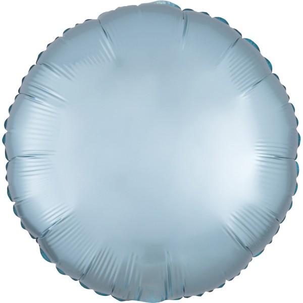 "Anagram Folienballon Rund Satin Luxe Pastel Blue 45cm/18"""