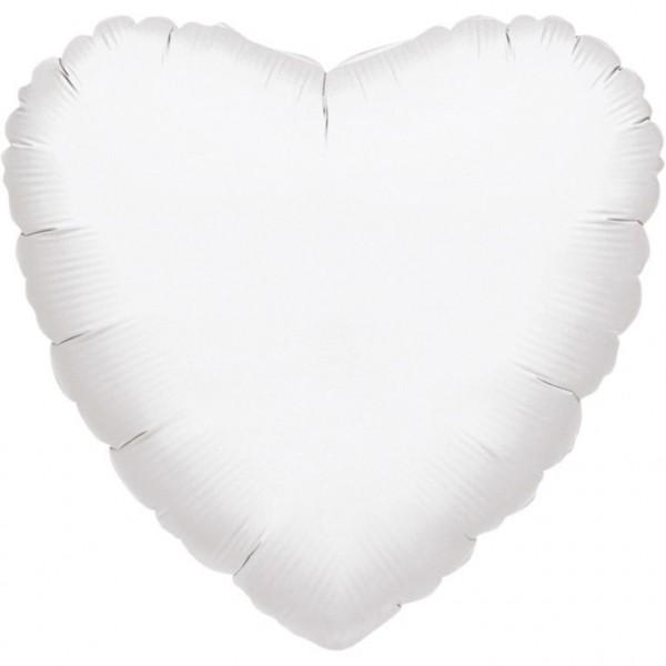 "Anagram Folienballon Jumbo Herz Metallic White 80cm/32"""