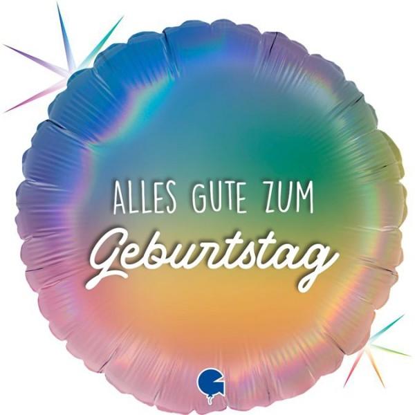"Grabo Folienballon Geburtstag Colourful Rainbow 45cm/18"""