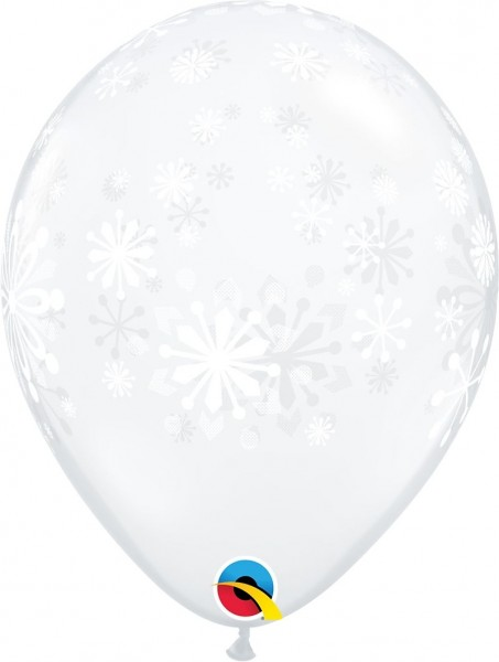 "Qualatex Latexballon Contemporary Snowflakes 28cm/11"" 25 Stück"