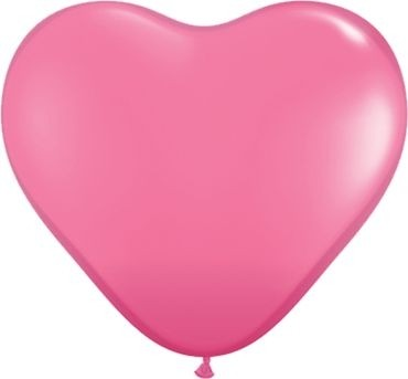 "Qualatex Latexballon Fashion Rose Heart 38cm/15"" 50 Stück"