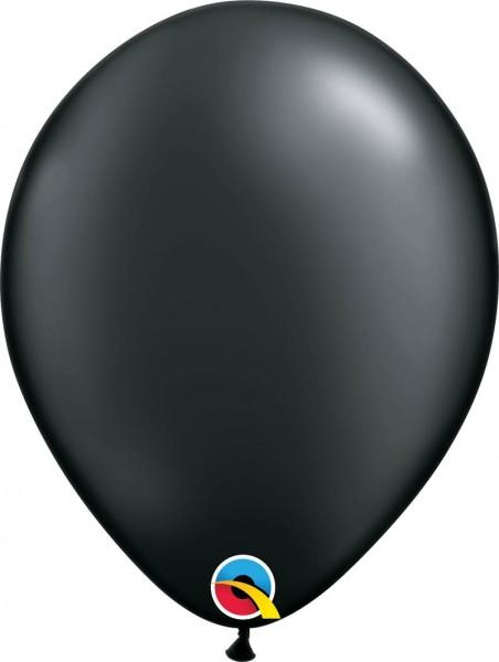 "Qualatex Latexballon Radiant Pearl Onyx Black 28cm/11"" 100 Stück"