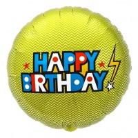 "Northstar Folienballon Happy Birthday Bolt 18"""