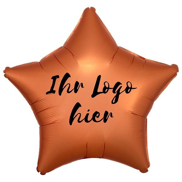 """Folien-Werbeballon Stern Satin Luxe Amber 50cm/20"""" 1-Seitig bedruckt"""